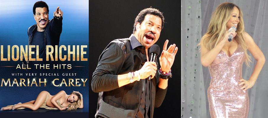 Lionel Richie with Mariah Carey at Rogers Arena