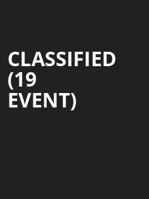 Classified (19+ Event) at Commodore Ballroom