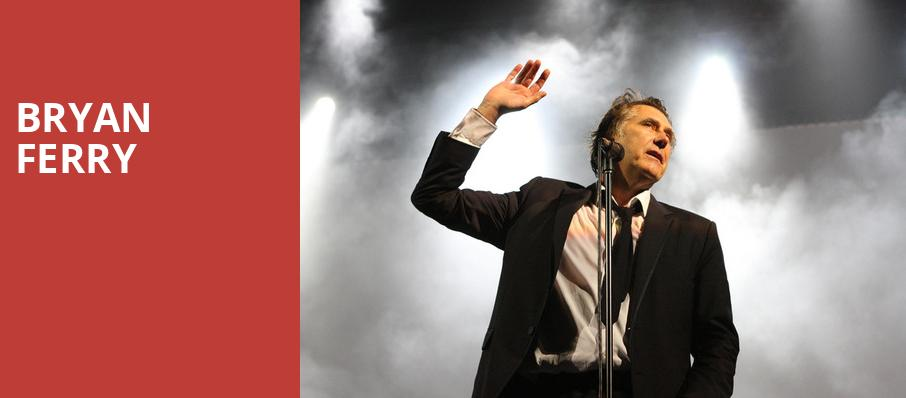 Bryan Ferry, Orpheum Theatre, Vancouver